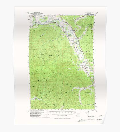 USGS Topo Map Washington State WA Malone 242149 1953 62500 Poster