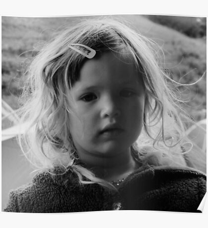 Child portrait B&W Poster
