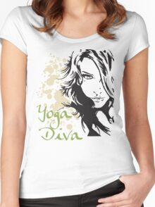 Yoga Diva Women's Fitted Scoop T-Shirt