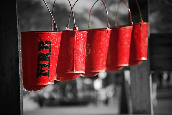 Calico Ghost Town Fire Buckets by HeavenOnEarth