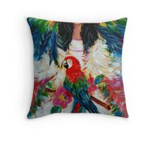 THE MACAW BRIDE Throw Pillow