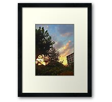 West Ken Sunset Framed Print