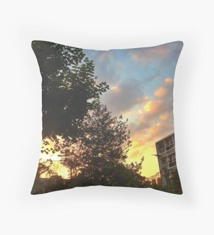 West Ken Sunset Throw Pillow