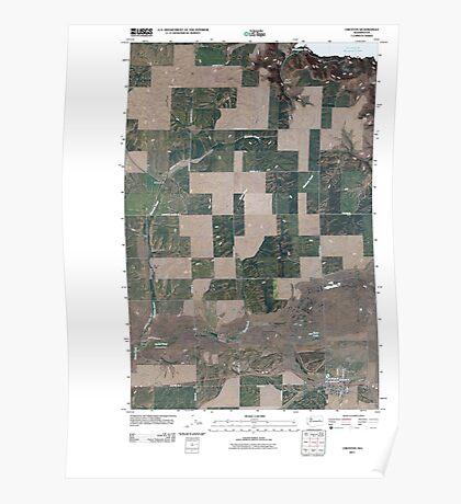 USGS Topo Map Washington State WA Creston 20110401 TM Poster
