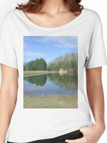 Rustic Lake of Blue and Green Women's Relaxed Fit T-Shirt