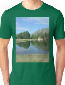 Rustic Lake of Blue and Green Unisex T-Shirt