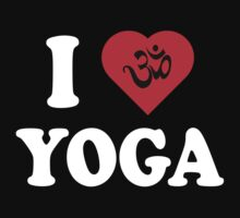 I Love Yoga T-Shirt One Piece - Short Sleeve