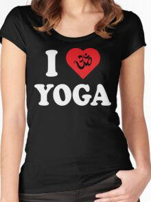 I Love Yoga T-Shirt Women's Fitted Scoop T-Shirt