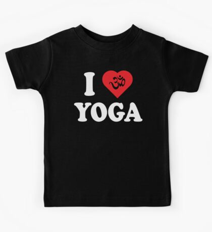 I Love Yoga T-Shirt Kids Tee