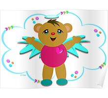 Angel Bear Celebrates the Moment Poster