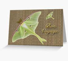 Bon Voyage Greeting Card - Luna Moth Greeting Card