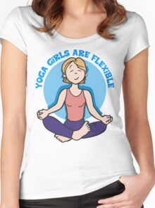 Funny Yogini Yoga T-Shirt Women's Fitted Scoop T-Shirt