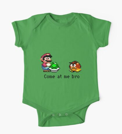 Come at me Bro (Mario) One Piece - Short Sleeve