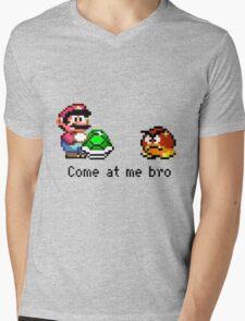 Come at me Bro (Mario) Mens V-Neck T-Shirt