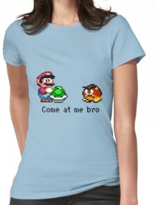 Come at me Bro (Mario) Womens Fitted T-Shirt