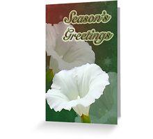 Season's Greetings Card - Bindweed Wildflower Greeting Card