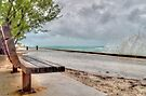 The Bench at Yamacraw facing the Hurricane Sandy on Eastern Road in Nassau, The Bahamas by 242Digital