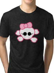 Girly Skull Tri-blend T-Shirt