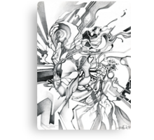Enter the Branching Sequence - Sketch Pencil Illustration Canvas Print