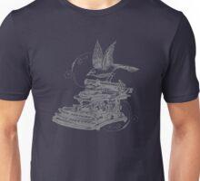 Type Flies : Grey Unisex T-Shirt