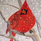 A Cardinal Winter by AngieDavies