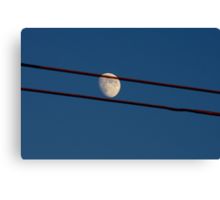 Moon on a Wire Canvas Print