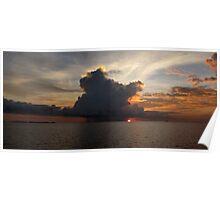 Morning Cumulus at Pulau Pulau Yeben. Poster