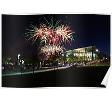 University of Akron Fireworks Poster
