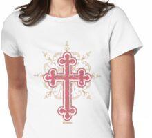 Leopard Pink Cross Womans Tee :D Womens Fitted T-Shirt
