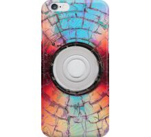 A Burned Disc Formatted In Red and Blue iPhone Case/Skin