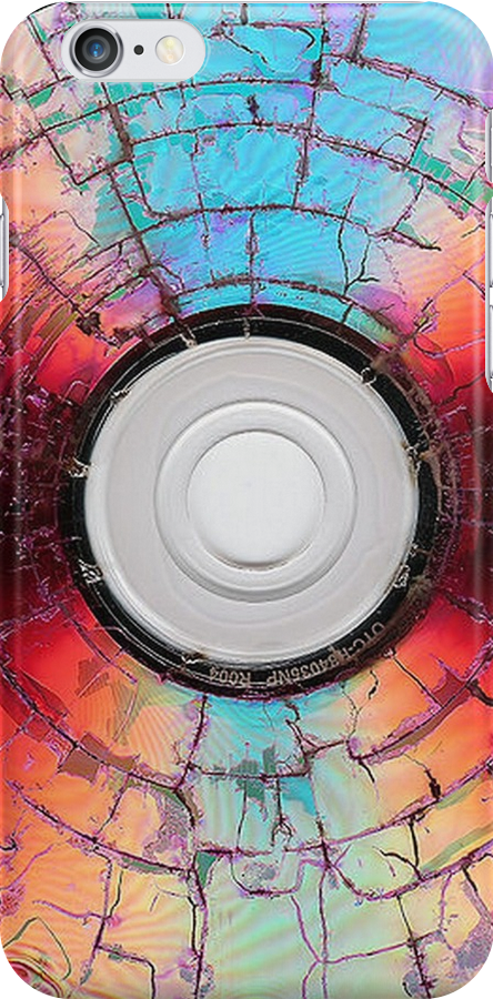 A Burned Disc Formatted In Red and Blue by taiche
