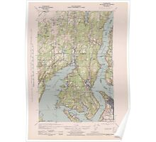 USGS Topo Map Washington State WA Gig Harbor 241265 1943 62500 Poster