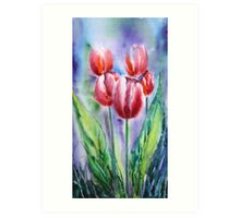 ''Red tulips'' Art Print