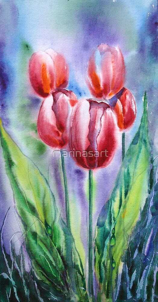 ''Red tulips'' by Marina Terkulova -Tesch