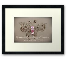 Remembering Your Daughter This Christmas Framed Print