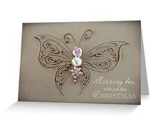 Missing Her With You This Christmas Greeting Card