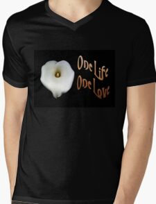 """Calla Lily Isolated on Black """"One Life, One Love"""" Greeting T-Shirt"""