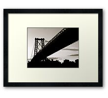 The Williamsburg Bridge Framed Print