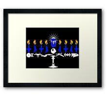 Geeky Hanukkah! Framed Print