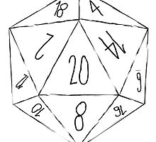 Messy D20 by jessesandin