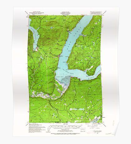 USGS Topo Map Washington State WA Potlatch 243252 1952 62500 Poster