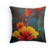 Mexican bird of paradise Throw Pillow
