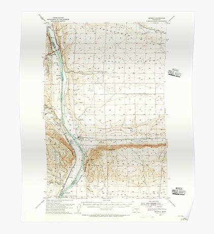 USGS Topo Map Washington State WA Beverly 240039 1954 62500 Poster