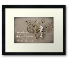 Remembering A Daughter - Christmas Framed Print