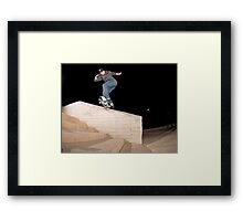 Josh Kalis SW Back Tail, AZ, Photo by Joe Hammeke Framed Print