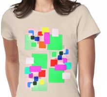 BLOCKS PALE GEEN  TEE SHIRT,KIDS TEE,STICKERS Womens Fitted T-Shirt