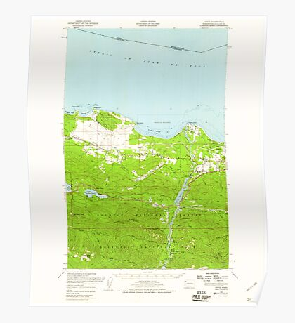 USGS Topo Map Washington State WA Joyce 241707 1950 62500 Poster