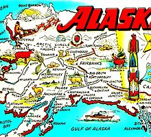 Vintage Alaskan Map Design by ginpix