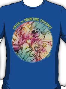 Enter the Branching Sequence - Sketch Pencil Illustration T-Shirt