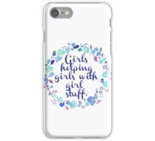 Girls Helping Girls iPhone Case/Skin